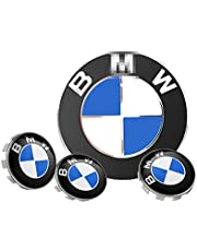 4 Pack 2.67 Inch/68mm Car Wheel Center Hub Caps, Hub Center Cap, Wheel Center Caps, Hubcaps Logo Covers for 1/3/5/6/7/X/Z Series Accessories