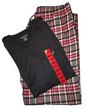 Men's Pajama Set with T-Shirt and Plaid Pant, XXL