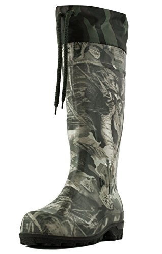 "Alisa Men's 16"" Insulated Hunting Camo Waterproof Rubber Boots"