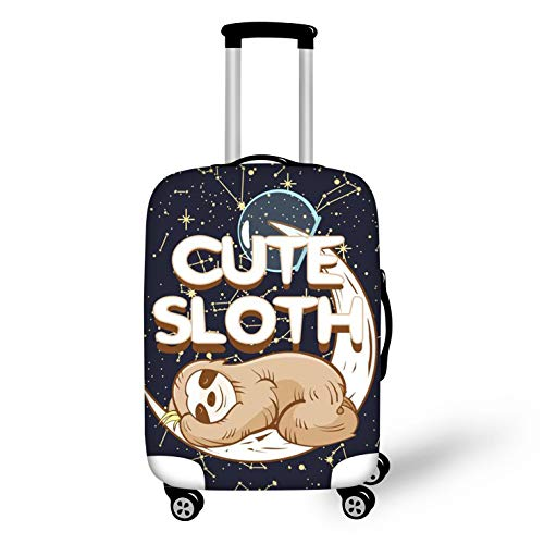 BIGCARJOB Cute Sloth Luggage Cover Spandex Dust-proof Case Travel Suitcase Protective Fit 18-20inch Suitcase