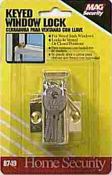 Prime-Line Keyed Window Sash Lock Hardened Steel Bolt Brass Finish Carded (3 Pack)