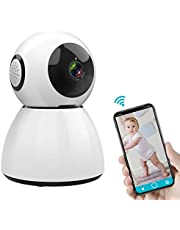SAWAKE Caméra de Surveillance, 1080P HD Caméra de Sécurité, Caméra IP WiFi sans Fil, Audio Bidirectionnel, Storage Cloud, Vision Nocturne, Détection à Distance de Mouvements