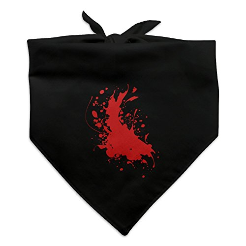 Graphics and More Blood Splatter Classic Horror Movie Halloween Dog Pet Bandana - Black ()