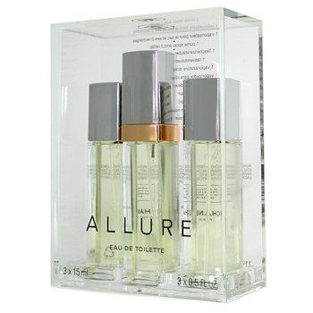 d70d6f525dab Amazon.com : CHANEL CHANEL Allure Eau De Toilette Purse Spray and 2 Refills  For Women - .5 fl oz : Beauty