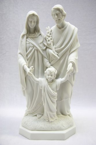 15'' Holy Family Joseph Mary Jesus Catholic White Statue Figure By Vittoria Collection Made in Italy by Vittoria Collection