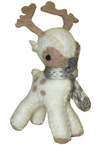 Sweet Baby Reindeer Ornament - Natural or Brown (Natural) One per Order