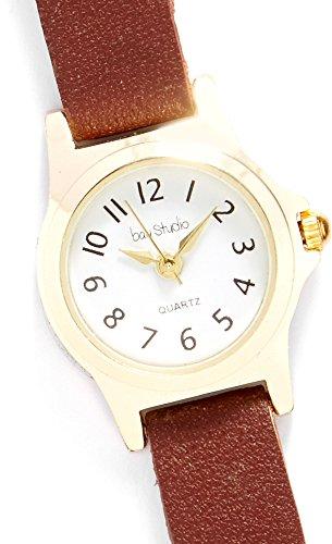 Bay Studio Womens EZ Read Skinny Strap Watch One Size Brown/Gold Tone by Bay Studio (Image #2)