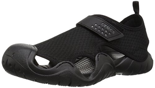 Crocs Men's Swiftwater Sandal M Flat Black, 7 M US