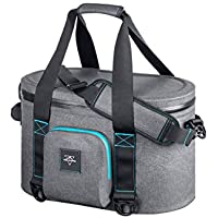 Monoprice Emperor Flip Portable Soft Cooler - 20 Can - Gray | Waterproof Exterior, IPX7-Rated Zippers Ideal for Camping, Fishing, BBQ - Pure Outdoor Collection