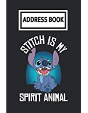 Address Book: Lilo and Stitch Spirit Animal Stitch Telephone & Contact Address Book with Alphabetical Tabs. Small Size 6x9 Organizer and Notes with A-Z Index for Women Men