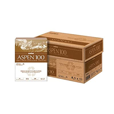"""Boise - Aspen 100% Recycled Paper, 92 Bright, 500 Sheets/Ream, 11"""" X 17"""", 20 Lb."""