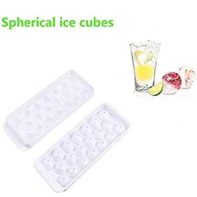 Vibola 20 Large Molds Whiskey Cocktail Ice Cube Tray Round Spherical Ice Ball Maker Mold Silicone Ice Ball Maker Large Ice Cube Molds Maker