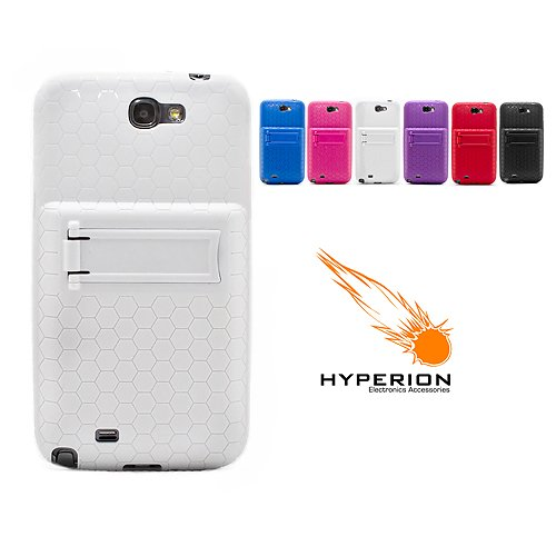 save off 095d6 8bddd Hyperion Samsung Galaxy Note II Extended Battery HoneyComb Kickstand TPU  Case White