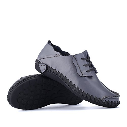 Loader Shoes Flat Gray up Color Heel Solid Business Cricket Shopping Men's Shoes Lace Go Easy 6wPftq