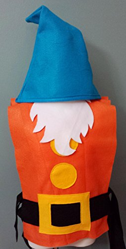 Kids Sleepy Dwarf Costume Set (Snow White and the Seven Dwarfs) - Baby/Toddler/Kids/Teen/Adult Sizes by Teatots Party Planning