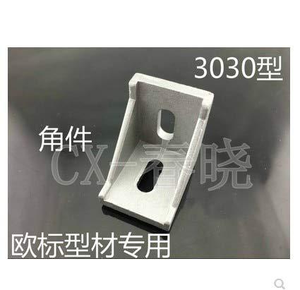 Gimax 50pcs/Lots 3030 Corner Fitting Angle Aluminum 35 x 35 L Connector Bracket Fastener Match use 3030 Industrial Aluminum Profile