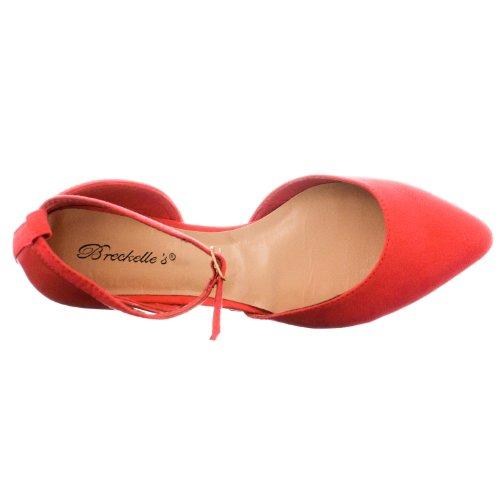 Lemonade Strap Flats Breckelle's 01' Women's Toe Pointed 'Dolley Pink Ankel 77vwnzpx