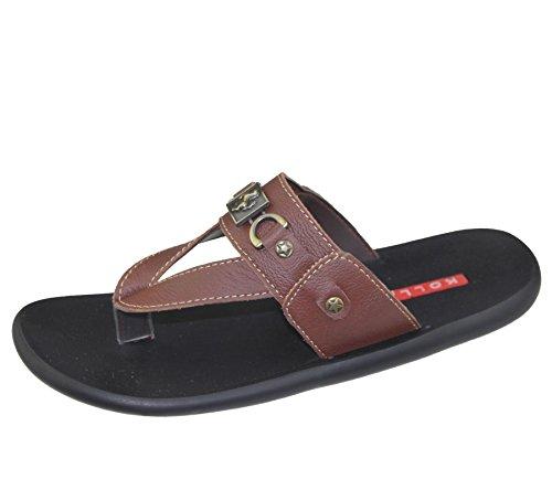 Herren Slip auf Hausschuhe Strand Walking Sommer Casual Fashion Flip Flop Sandale Schuhe Größe Braun