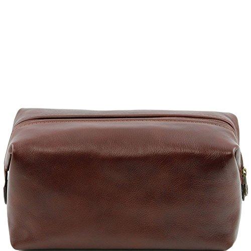 Tuscany Leather - Smarty - Beauty case in pelle - Misura grande Marrone - TL141219/1