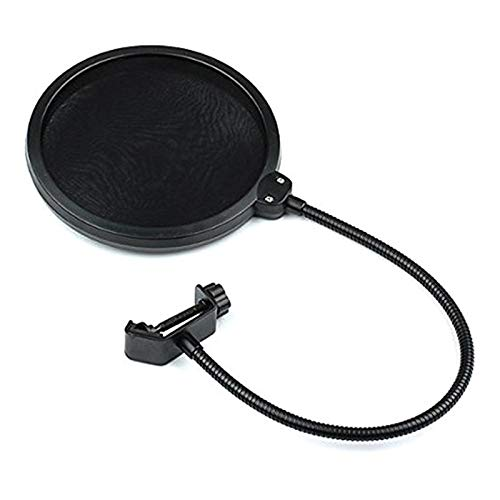 SGQIANG Flexible Mic Microphone Studio Wind Screen Pop Filter Mask Shied Gooseneck (Mic Accessories Windscreens)