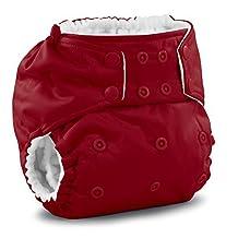 Rumparooz One Size Cloth Pocket Diaper Snap, Scarlet by Rumparooz