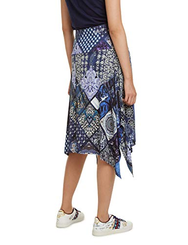 Blue Desigual Blu nave Gonna 5000 Woman Knee Skirt Donna Katherine fqxwqPI7F