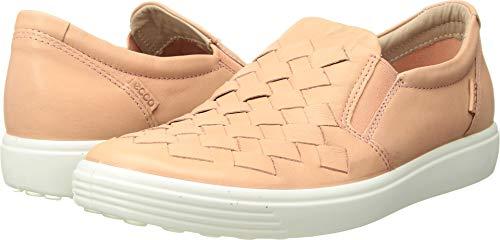 (ECCO Women's Soft 7 Slip-on Sneaker Rose dust Woven 41 M EU (10-10.5 US))