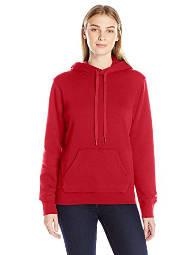 Russell Athletic Women's Lightweight Fleece Hoodie, True Red, L