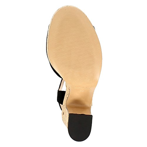 Chaussures Evita Femmes Luna Sandalette Noir Suède