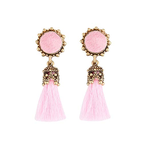 Clearance! Hot Sale! Fashion Simple Earring Retro Round Tassel Earrings Ladies Temperament Jewelry Fashion Jewelry for Women Girls Under 5 Dollars