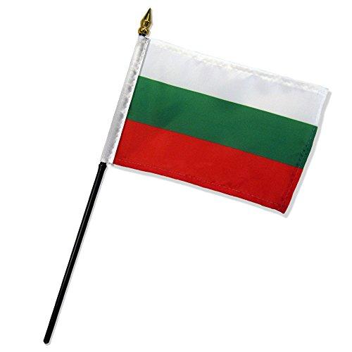 Quality Standard Flags One Dozen Bulgaria Stick Flag, 4 by (Bulgaria Flag)