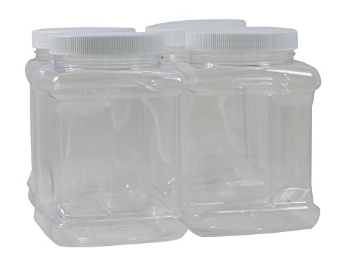 40 oz Plastic Containers with Lids – 4 Pack – BPA Free – Food Grade – Made in the USA