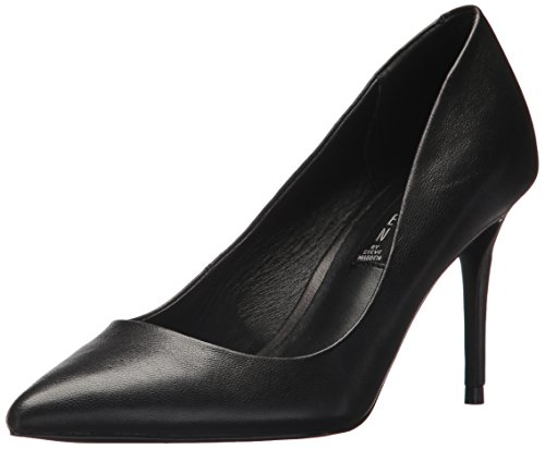 STEVEN by Steve Madden Women's Local Pump, Black Leather, 6.5 M US