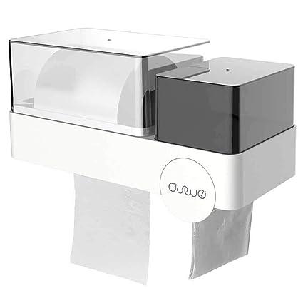 KOBWA - Dispensador de Papel higiénico – Soporte de Pared – 2 en 1 Papel higiénico