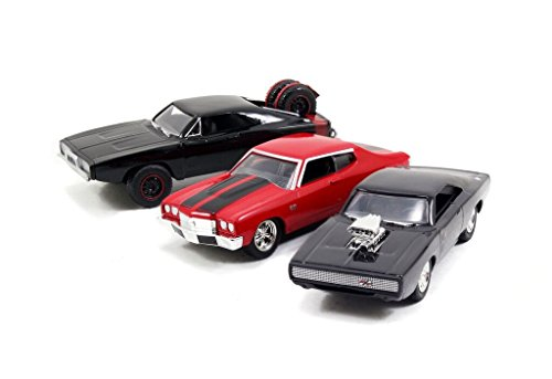 Fast & Furious 1:55 Diecast Cars Dodge Charger ST Dodge Charger RT and Chevy Chevelle SS(3 Pack)