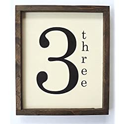 Family Number Sign, Scrabble Tile Wall Art, Farmhouse Gallery Wall Decor