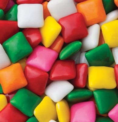 Dubble Bubble ASSORTED Chiclets Bubble Gum 1LB