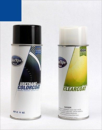 ColorRite Aerosol Honda Civic Automotive Touch-up Paint - Eternal Blue Pearl Clearcoat B-96P - Color+Clearcoat Package