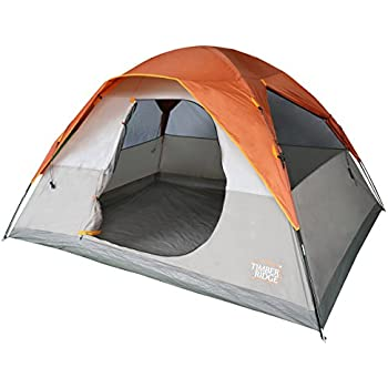 Timber Ridge 6 Person 3 Seasons Family Tent with Carry Bag for C&ing with Rainfly  sc 1 st  Amazon.com & Amazon.com : Timber Ridge 6 Person 3 Seasons Family Tent with ...