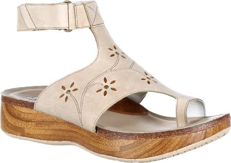 4EurSole Womens Bountiful Ankle Strap Sandal Sand Leather fo6YdxZv