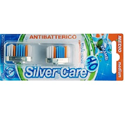 Recambio para cepillo de dientes Silver Care Medio: Amazon ...