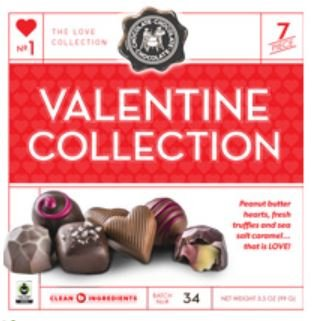 The Love Collection Valentine's Day Chocolate 7-Piece 3.5 oz. (99g) Gift Box