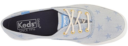 Keds-dames Kampioen Ster Chambray Sneaker Lichtblauw