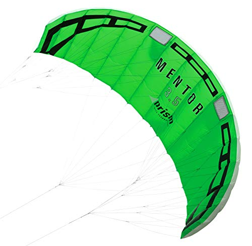 Kite Land Board - Prism Mentor 3.5m Water-relaunchable Three-line Power Kite Ready to Fly with Control bar, Ground Stake and Quick Release Safety Leash