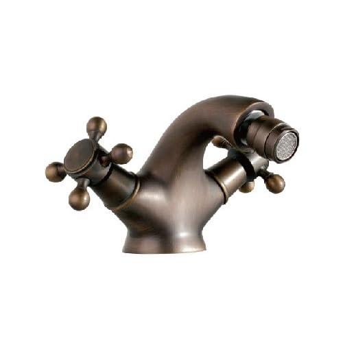 Antique Double handles bathroom bidet faucet mixer tap Single hole free shipping