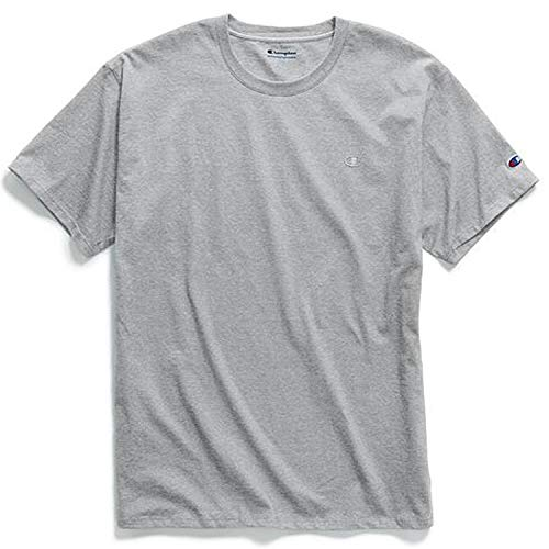 Classic Cotton Oxford Shirt - Champion Men's Classic Jersey T-Shirt, Oxford Gray, M