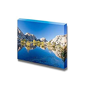Beautiful Scenery Landscape Barker Dam Joshua Tree National Park California - Canvas Art Wall Art - 12