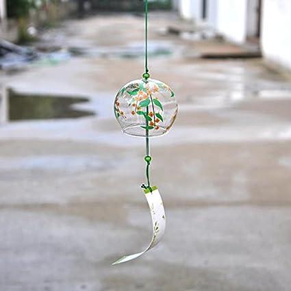 Carillon /à Vent en Verre Cloche Eolien D/écoration de Jardin Fen/être Style Japonais 1#