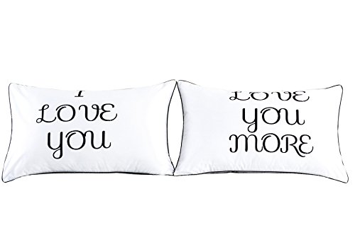 Couples Pillowcases-Valentines Day Gifts for Girlfriend Boyfriend,Cute Valentines Day Gifts, Wedding Gift Anniversary Gift,19x29Inch (1)