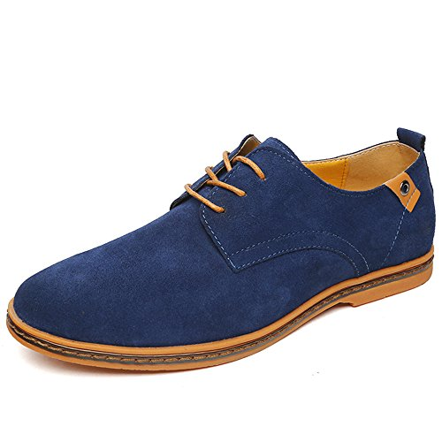 Basse Scarpe Stringate Oxford Pelle Uomo Oxford Uomo di SHELAIDON Men Blu Shoes Scarpe 6wSwX